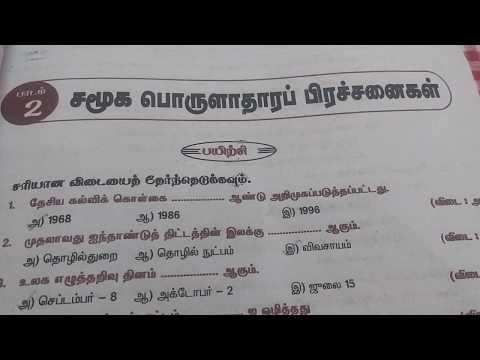 TNPSC SOCIAL SCIENCE - 8th Std One words ( part 1)