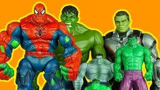 SPIDERMAN SPIDER-HULK vs HULK FAMILY MEGA BATTLE superhero spiderhulk spiderman toys
