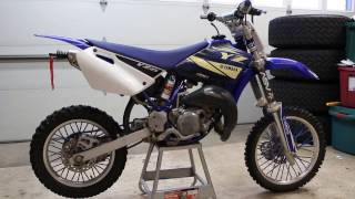 DIY How To Yamaha YZ85 YZ 85 Oil Change Spark Plug Change Coolant Change Maintenance