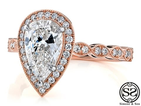 vintage-style-pear-shaped-diamond-engagement-ring