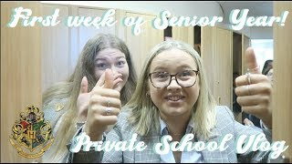 FIRST WEEK OF MY SENIOR YEAR! (AT PRIVATE SCHOOL) | CAITLIN