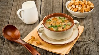 Летний супчик с гренками/Легкий рецепт от бабушки Тани/Деревенская еда
