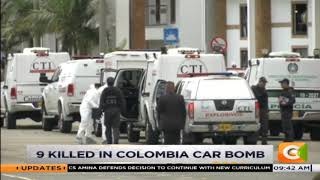 9 killed in colombia car bomb