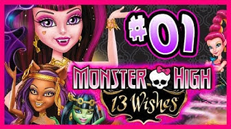 ☆ Monster High: 13 Wishes Walkthrough Part 1 (Wii, WiiU, 3DS) Full Gameplay ☆