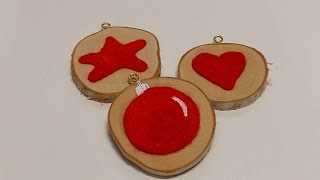 How To Make Christmas Ornaments With A Wood Disc - DIY Crafts Tutorial - Guidecentral