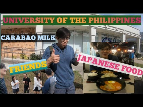 Japanese restaurant and carabao milk in UPLB with friends~philippines vlog~