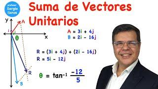 Suma de vectores usando vectores unitarios