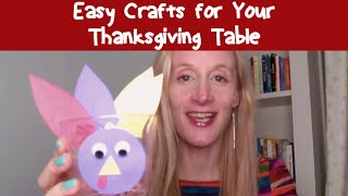 Easy Crafts For Your Thanksgiving Table | Cloudmom