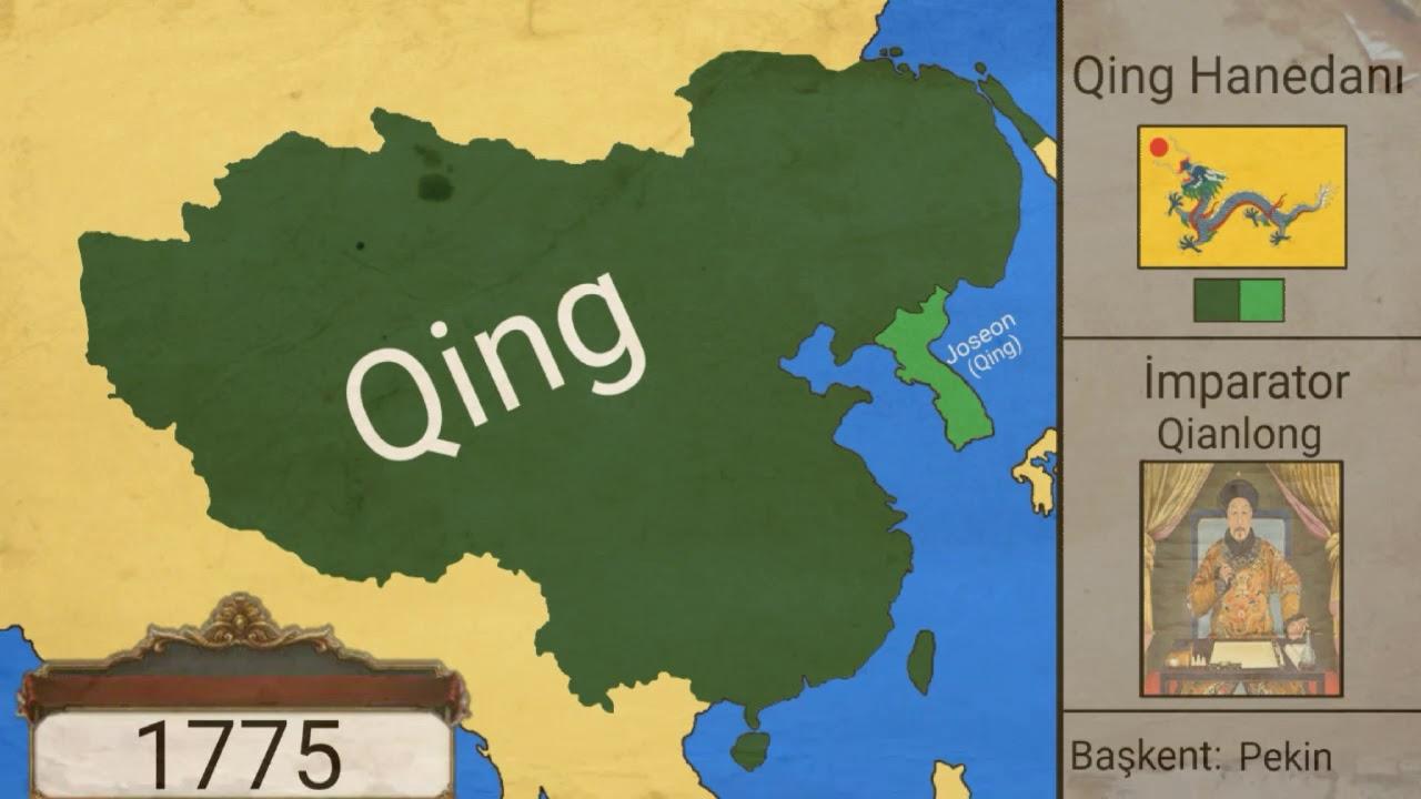 Qing Hanedanı kuruluştan yıkılışa(1644-1912)-{Harita} - YouTube