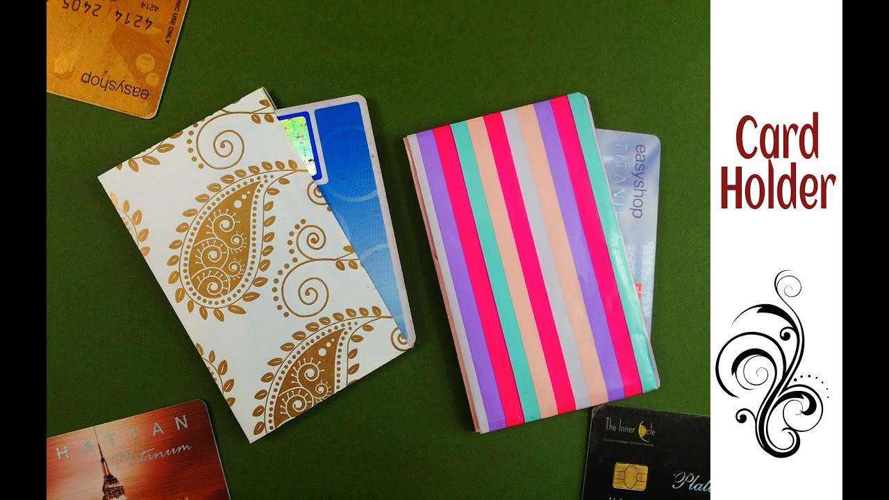 Useful origami paper credit card business card holder 2 easy useful origami paper credit card business card holder 2 easy to make youtube reheart Images