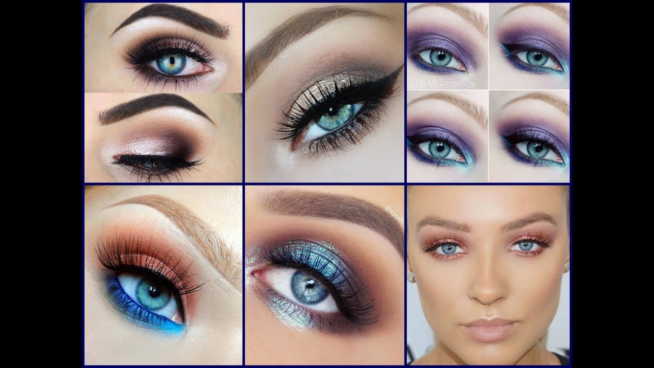 How To Make Blue Eyes Trendy Makeup Ideas For Blue Eyes Youtube
