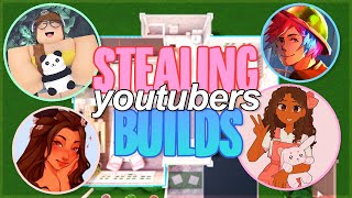 BUILDING A BLOXBURG HOUSE BUT EVERY ROOM IS A DIFFERENT YOUTUBER! || Roblox