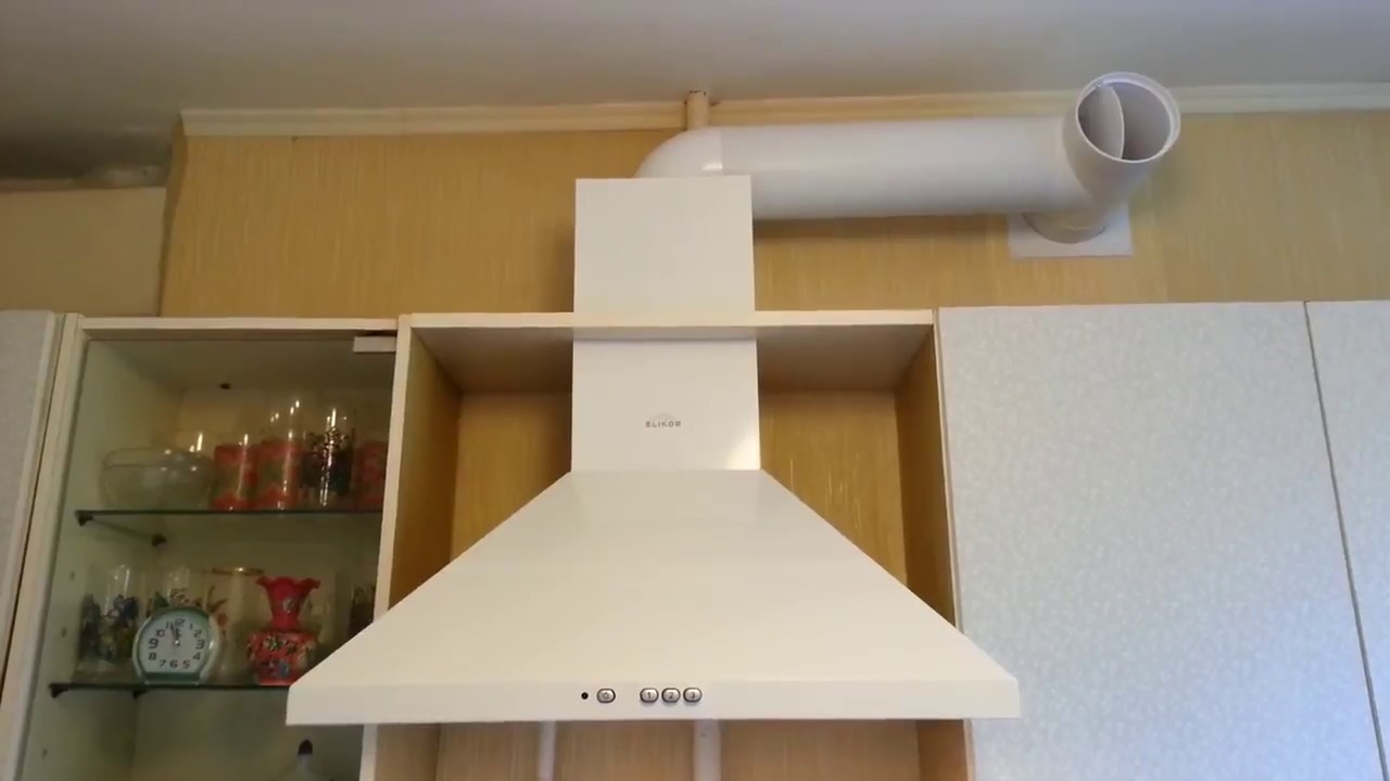 как крепится вытяжка на кухне фото