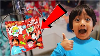 CLEANED OUT THE RYAN TOYS REVIEW PLUSH BLIND BAG CLAW MACHINE!! MYSTERY BAG WIN! || ClawBoss