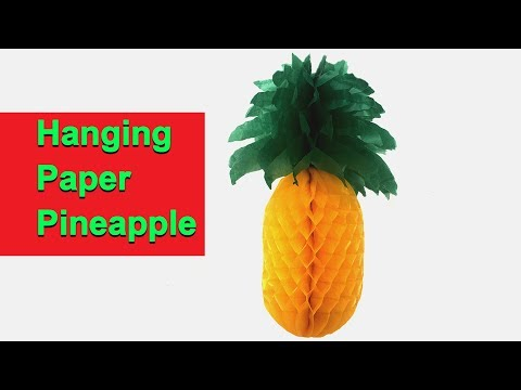 DIY, How To Make Paper Pineapple   کاردستی، ساخت آناناس با کاغذ، برای دکور خانه