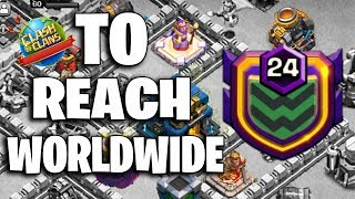 Top No.5 WorldWide To Reach Level 24 War Clan | Clan LvL24 Attack Strategy 2019 | Clash Of Clans