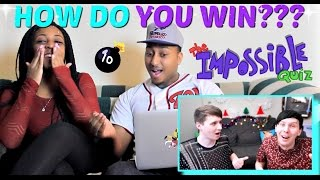 Dan and Phil Play THE IMPOSSIBLE QUIZ! #4 REACTION!!!