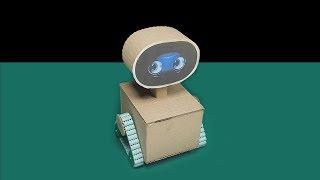 Cómo hacer un robot simple a control remoto robot casero con cartón | WALL E | Sagaz Perenne