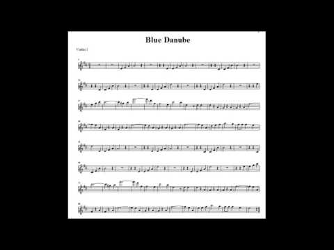 Blue Danube 1st Violin Accompaniment