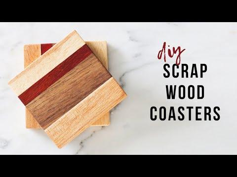 DIY Scrap Wood Coasters With 3 Tools