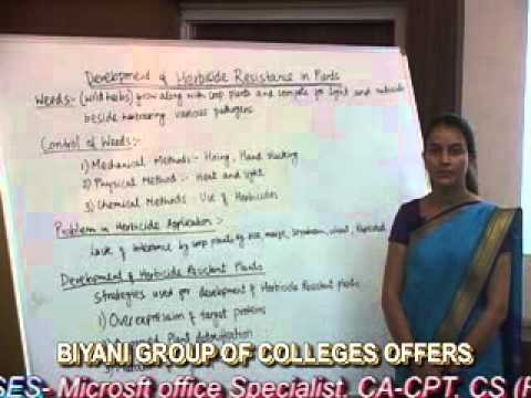 Herbicide Resistance in plants(B.Sc,M.Sc) lecture by Priyanka Godara, Biyani Group of Colleges.