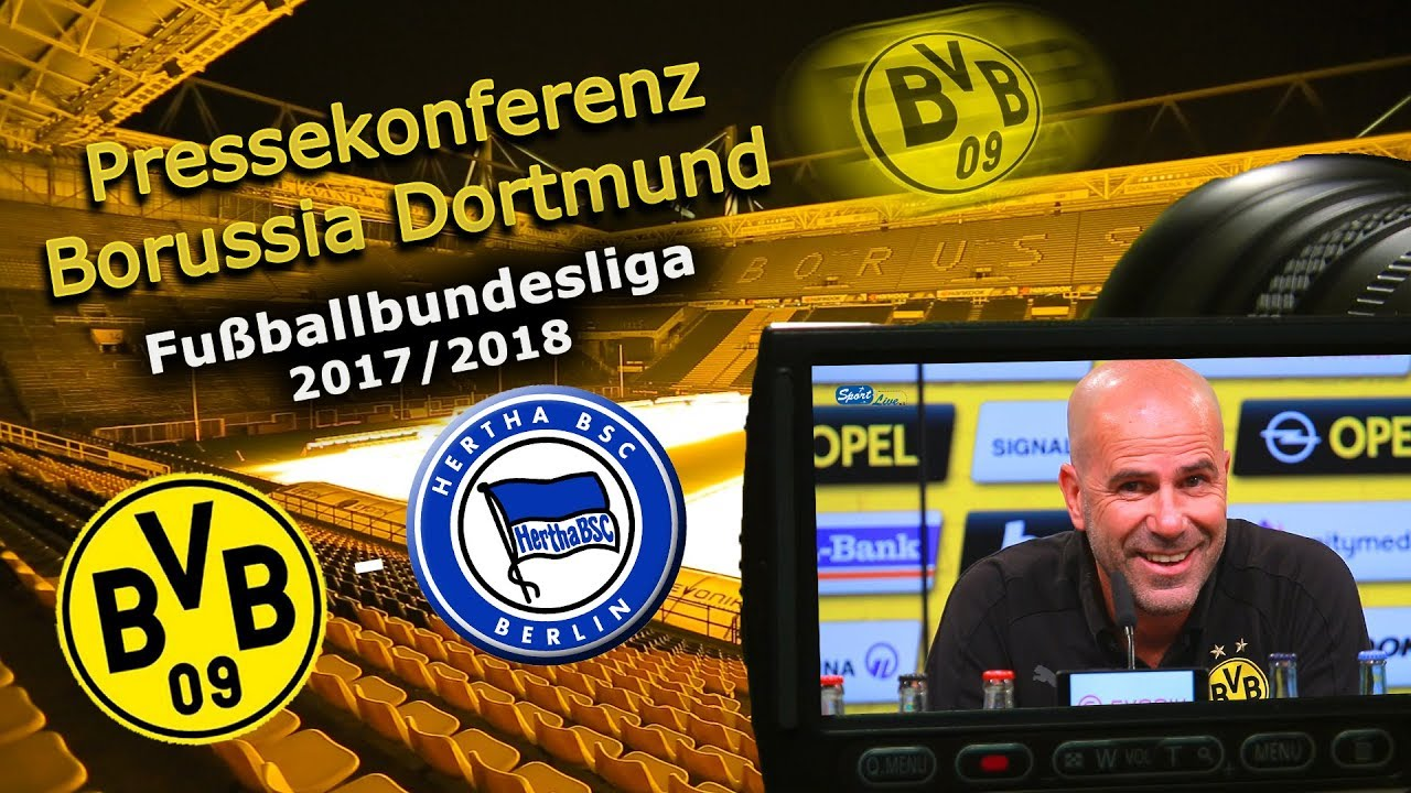 Borussia Dortmund - Hertha BSC: Pk mit Peter Bosz