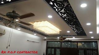 p o p design - false ceiling for drawing room - Rk p.o.p contractor
