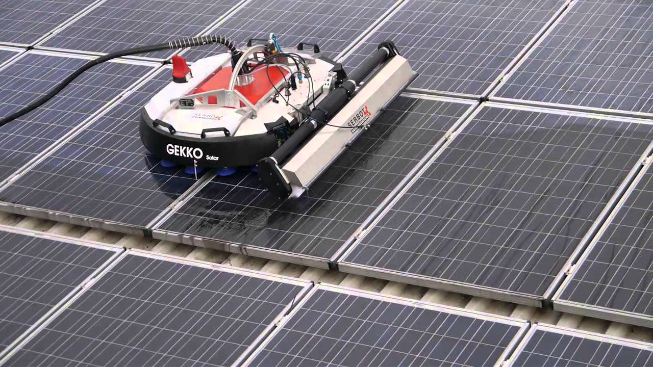 Solar Panel Cleaning In Berlin Youtube