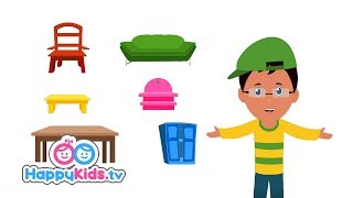 Furniture   Learning Songs Collection For Kids And Children | Baby Songs | Happy Kids