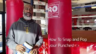 How to Snap and Pop Your Boxing Punches! 🥊