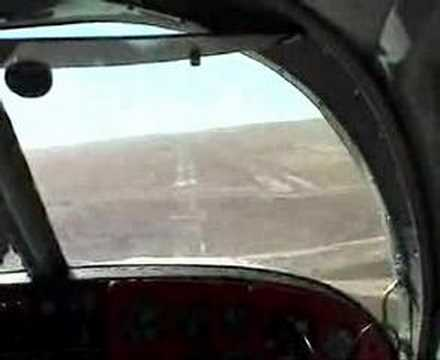 Mooney M20A landing at Double Eagle II airport in New Mexico