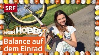 Tabitha balanciert geschickt auf ihrem Einrad! | Mein Hobby