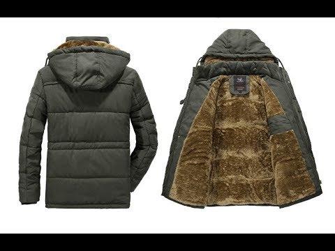Модная мужская зимняя куртка с капюшоном