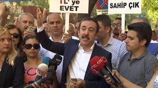 """Ankaralılardan 'Dolar' Tepkisi """"Dolar Yerde, TL Cepte"""""""
