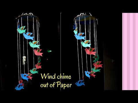 DIY Crafts : Wind chime out of Paper | Quick and Easy DIY Birds Wind chime Crafts Tutorial