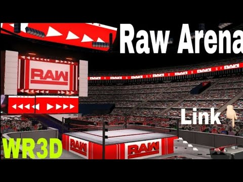 wr3d new raw arena with HD graphics and 3d stage
