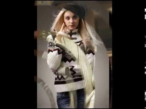 Женский свитер на молнии. - YouTube