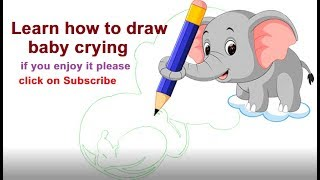 learn how to draw baby crying step by step