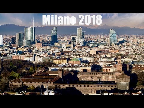 Milan Italy - The Skyline - Citylife, Unicredit Tower, Duomo, Castello Sforzesco, vigna di Leonardo