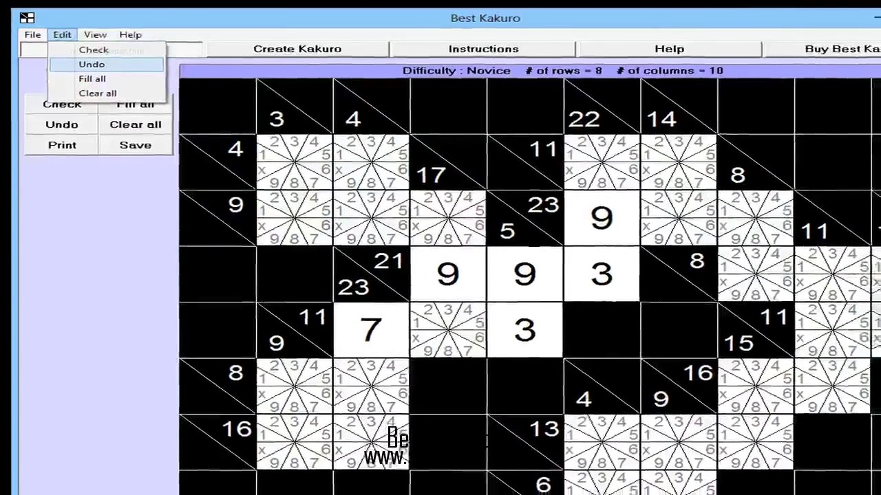 image regarding Kakuro Puzzles Printable known as Suitable Kakuro For Home windows