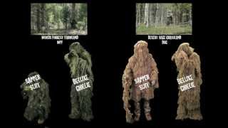 Ghillie Suit for Coyote and Predator Hunting Woodland Paintball Airsoft