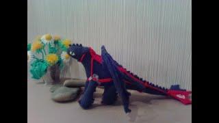 Чорний дракон (беззубик), ч. 5. Black dragon, р. 5. Amigurumi. Crochet. В'язати іграшки амігурумі.