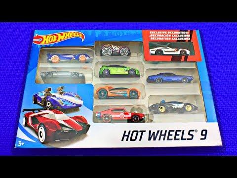Hot Wheels Cars 9 Pack #1   Learn Hot Wheels Car Names & Colors   Fun & Educational Organic Learning