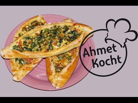 Rezept: Pide mit Spinat und Mozzarella | AhmetKocht | türkisch kochen | Folge 115
