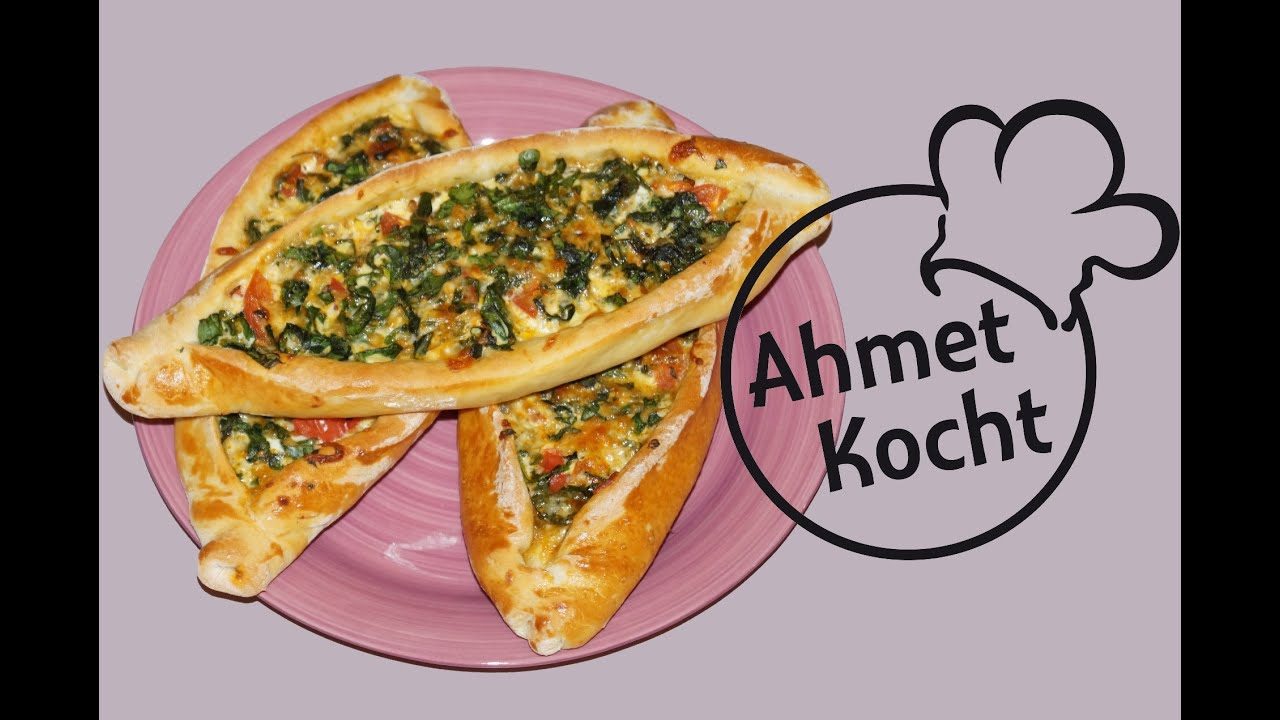 rezept pide mit spinat und mozzarella ahmetkocht t rkisch kochen folge 115 youtube. Black Bedroom Furniture Sets. Home Design Ideas