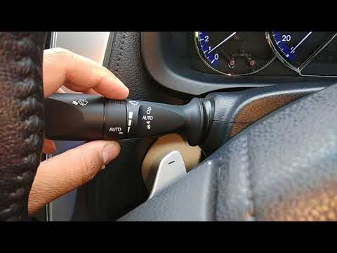How to activate auto rain sensing wipers in Toyota Yaris VX variant and V variant