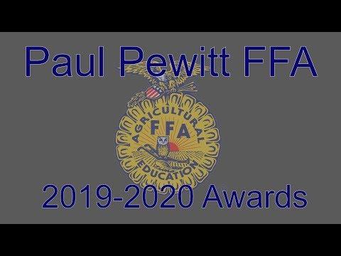 2019-2020 Pewitt High School FFA Awards