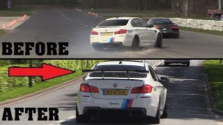 BMW M5 F10 with Akrapovic Exhaust - Drag Race Goes Wrong!