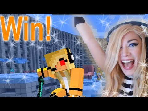Minecraft Mini Game: Throw Out Gameplay on Hypixel Server!  ♪♀Psycho Girl Dominates!♀♫