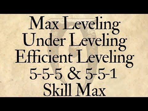 Oblivion :: Max-Leveling/Under-Leveling, 5-5-5/5-5-1, 3 Max Method (Elder Scrolls 4)